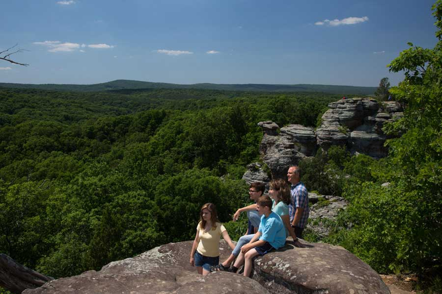 Garden Of The Gods Illinois In The Shawnee National Forest